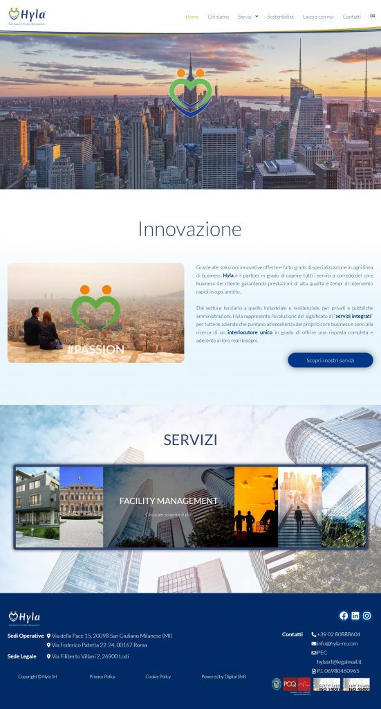 Sviluppo siti web Digital Shift